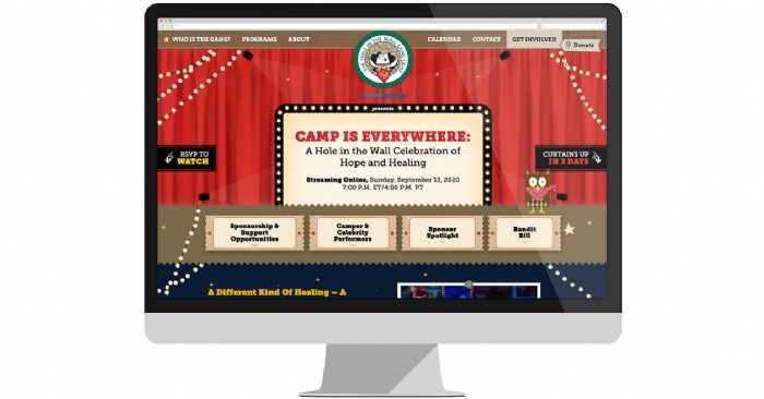 Hole in the Wall Gang Camp Launches Website for Online Gala