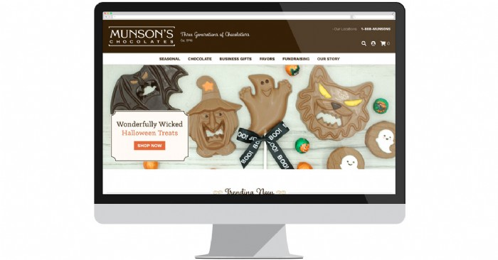 Munson's Chocolates Unveils Sweet New Website in Time for Halloween