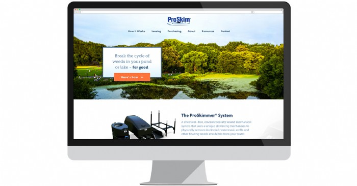 New Website from ProSkim Promises Weed-Free Ponds