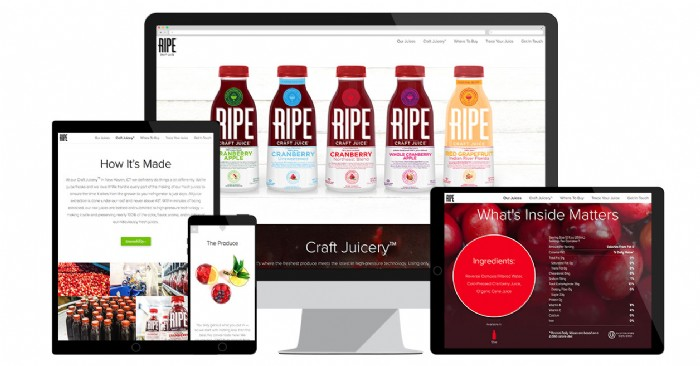RIPE Craft Juice Site's Refreshing New Look Wins Award