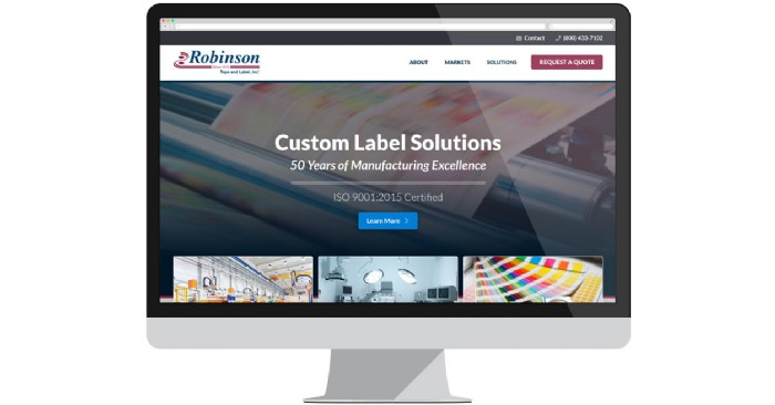 Robinson Tape and Label Launches New Website for Custom Labels