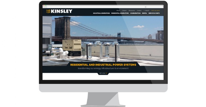 Kinsley Launches New Website for Residential & Industrial Generators