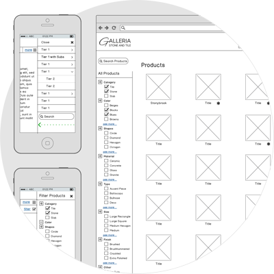 UX Site Architecture & Wireframes